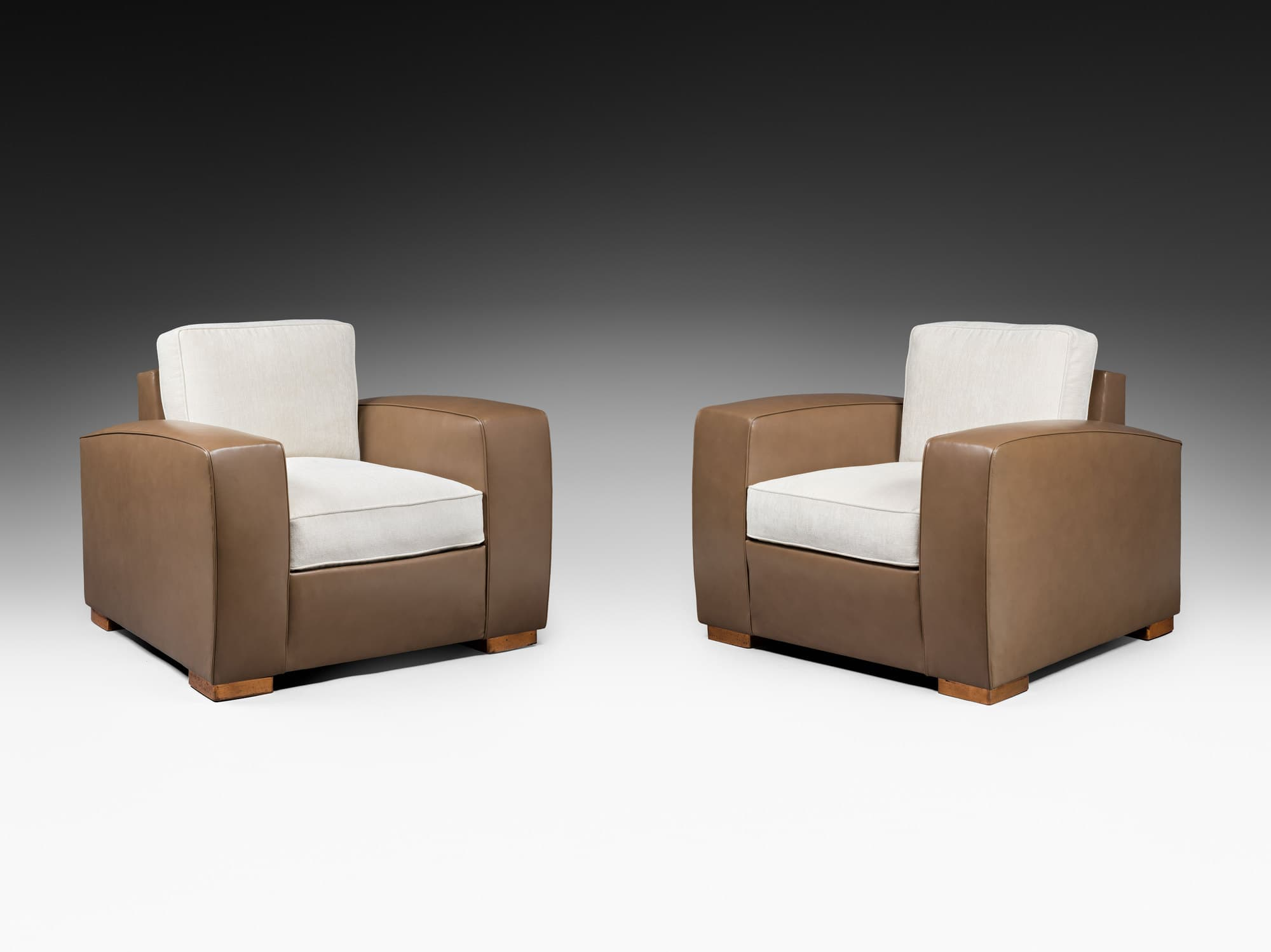 Rare pair of armchairs, vue 01