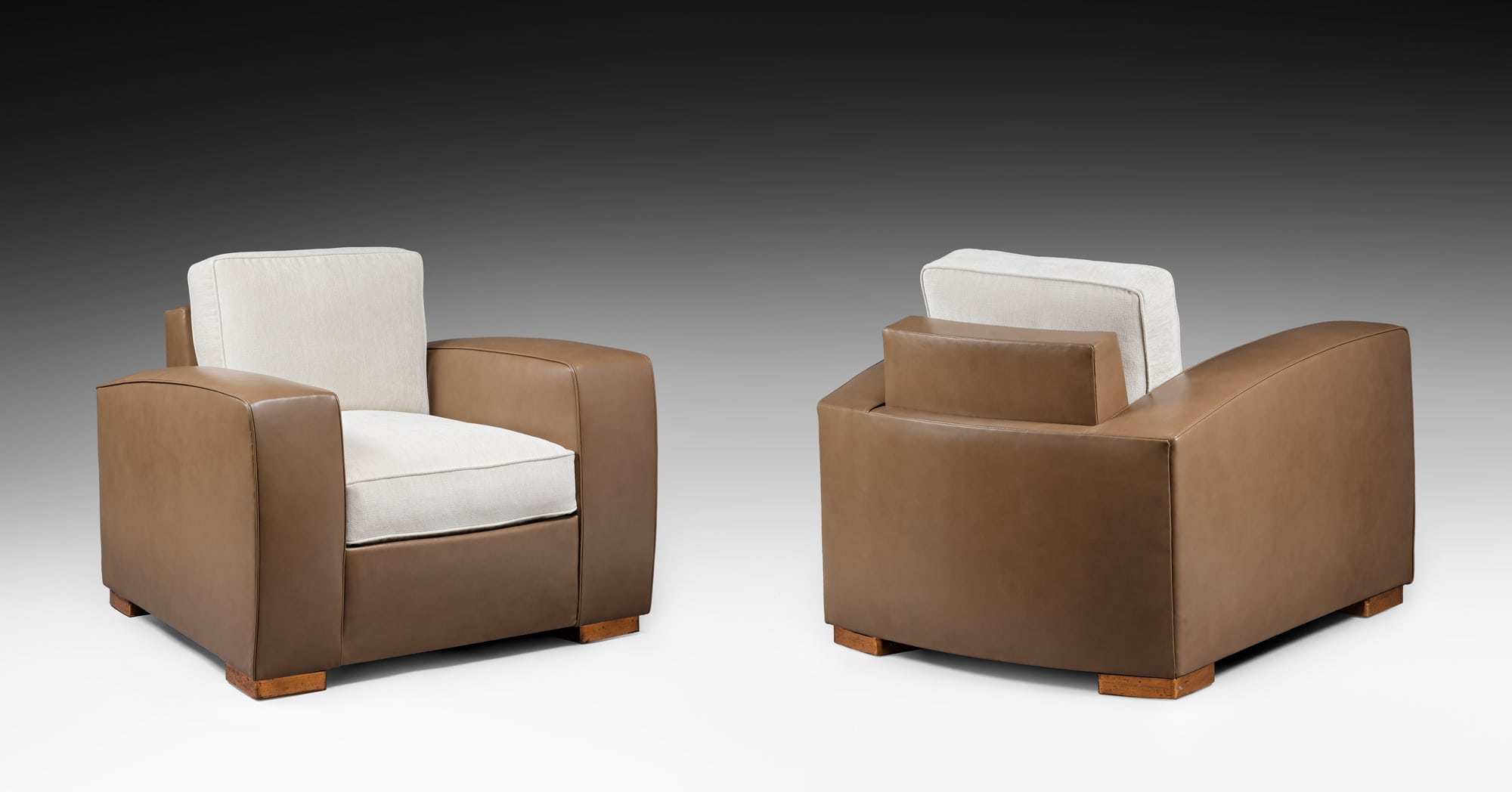 Rare pair of armchairs, vue 02