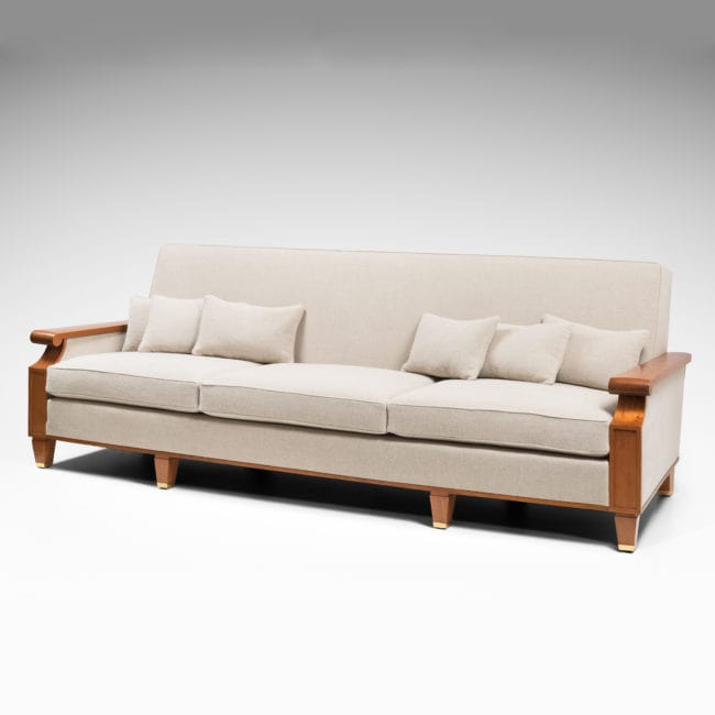 Important and rare sofa created for the Palais des Consuls in Rouen