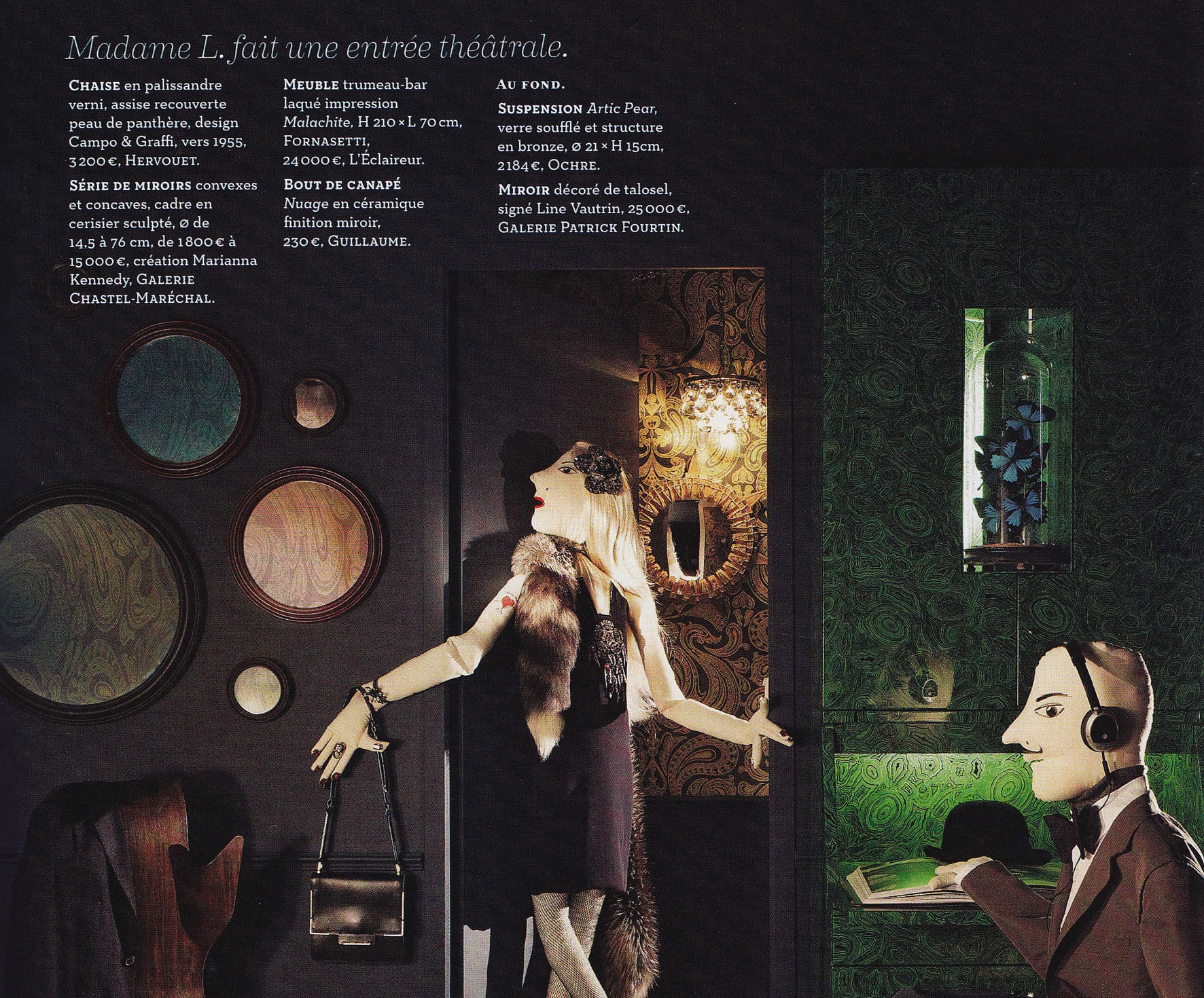 "AD, February/march 2012 – ""Le vrai chic parisien"" – Marianna Kennedy"