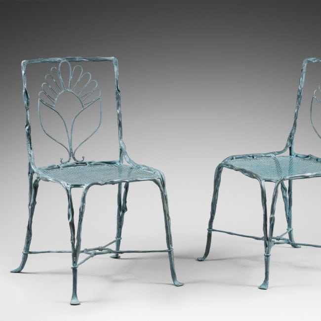 Set of four organic chairs