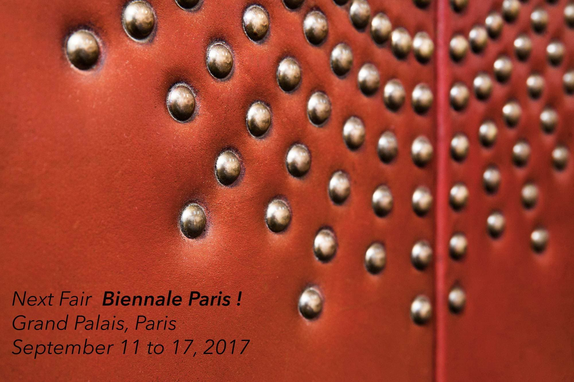 La Biennale Paris from Septembre 11 to 17, 2017
