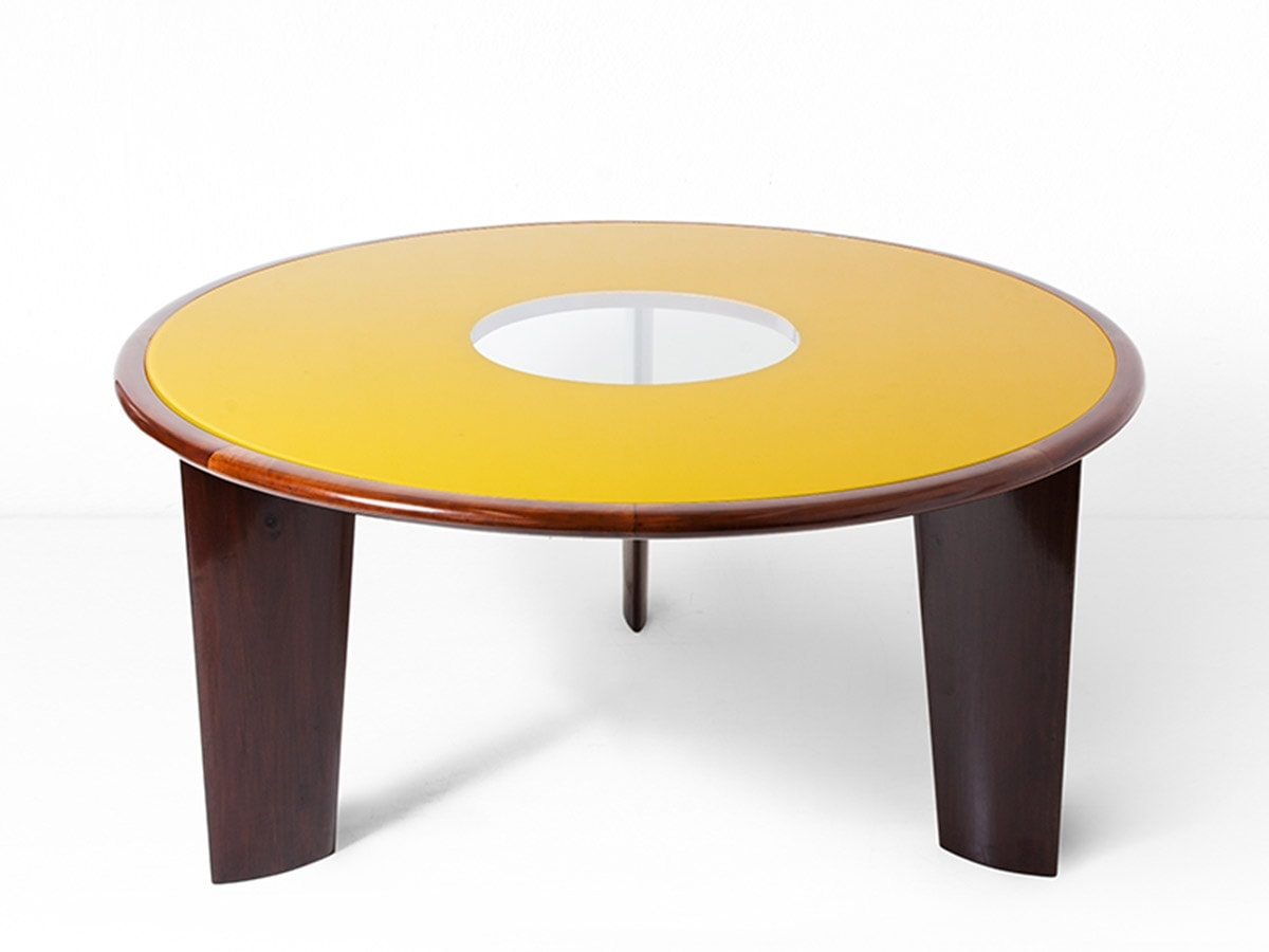 Joaquim Tenreiro, Important and rare round table (sold), vue 01