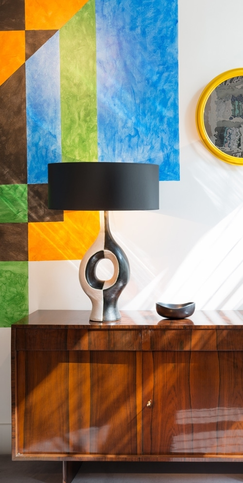 Georges Jouve, Exceptional and rare ceramic lamp (sold), vue 02