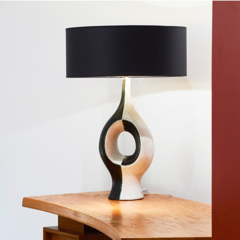 Georges Jouve, Exceptional and rare ceramic lamp (sold)