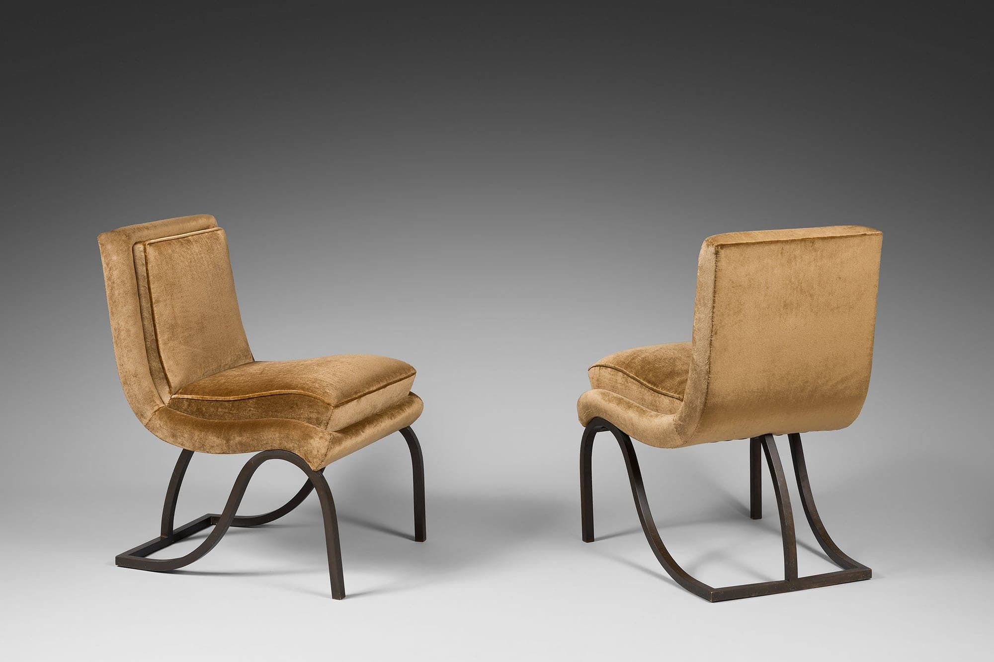 Eugène Printz,  Pair of living-room chairs (sold), vue 01