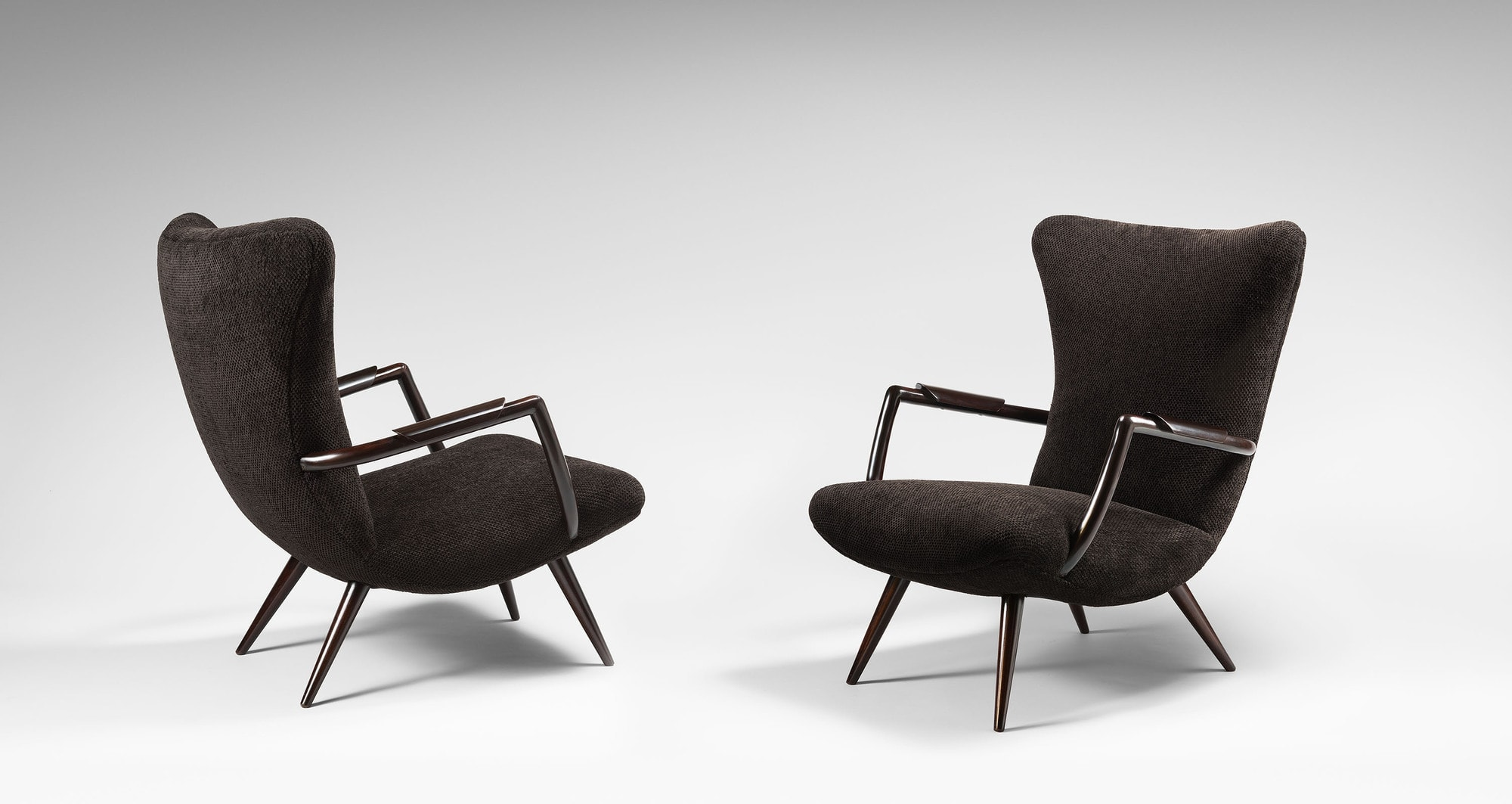 Giuseppe Scapinelli (Attributed to), Pair of armchairs, vue 01