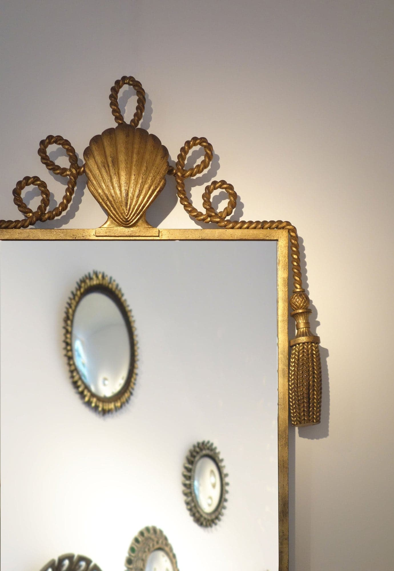 Gilbert Poillerat, Important and rare mirror (sold), vue 02