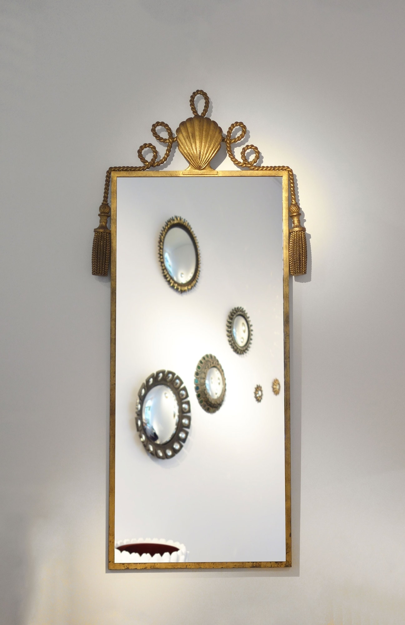 Gilbert Poillerat, Important and rare mirror (sold), vue 01