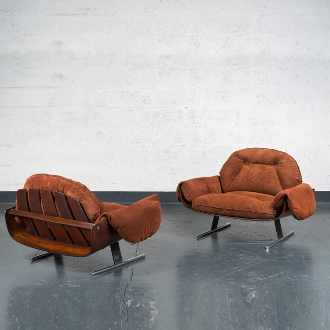 "Jorge Zalszupin, Pair of ""Presidencial"" armchairs"