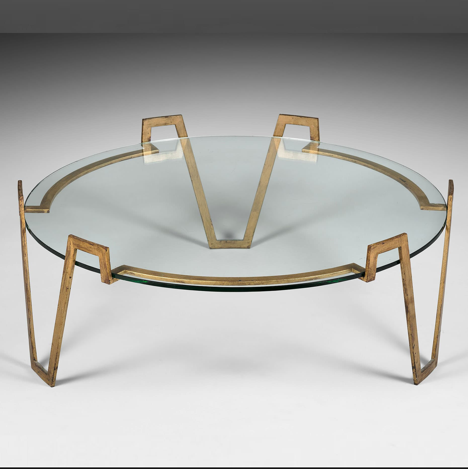 """Jean Royère, """"Val d'or"""" low table (sold), vue 01"""