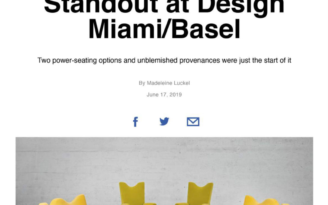 AD US – Why this French gallery was a standout at Design Miami/Basel – Juin 2019