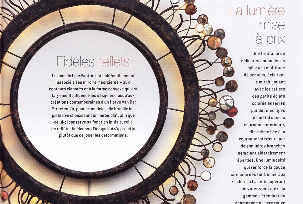 Ateliers d'Art, Novembre/Décembre 2014 – «Le miroir Sequins» – Line Vautrin