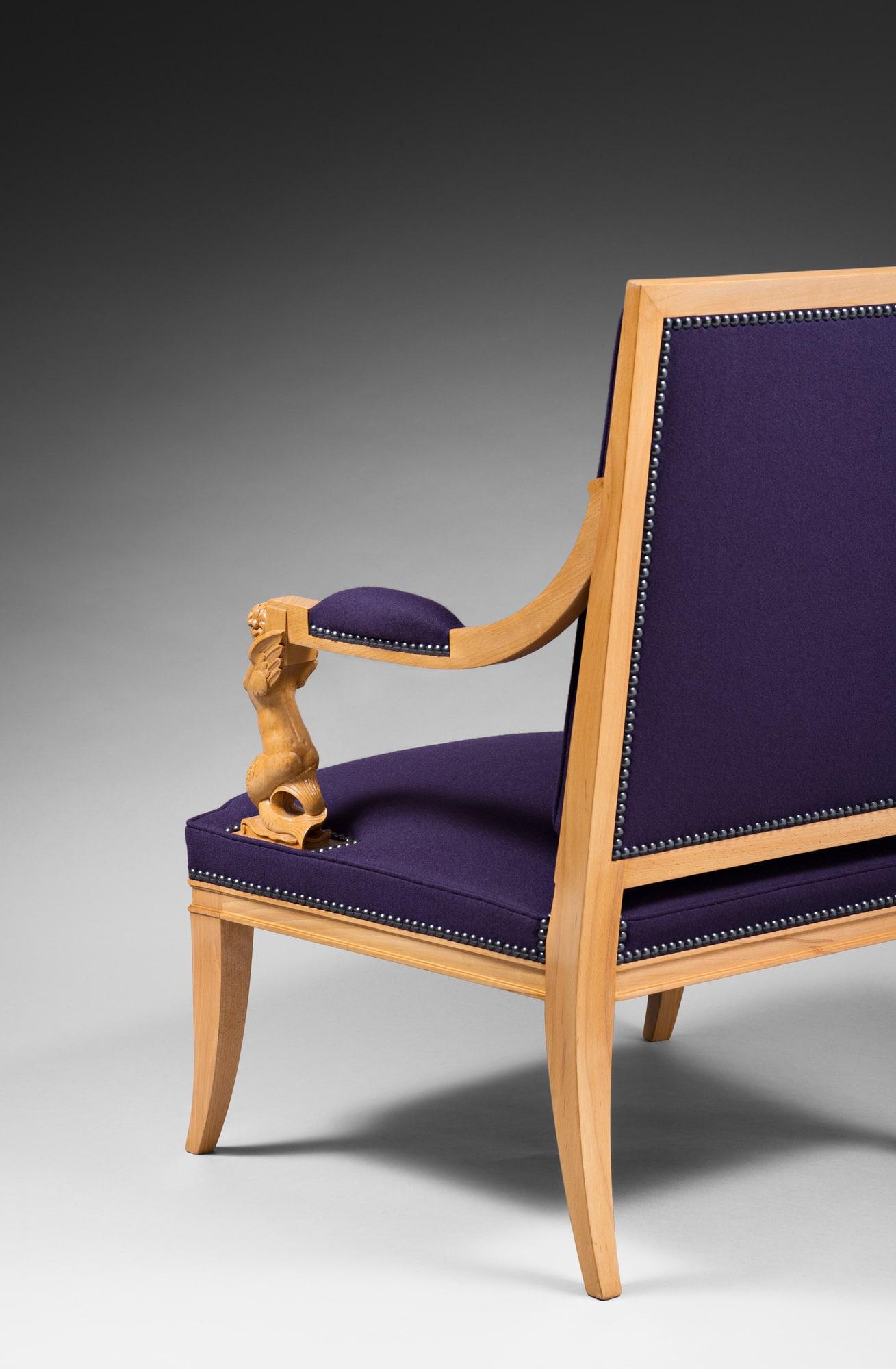 Rare paire de fauteuils « Sirènes », vue 02
