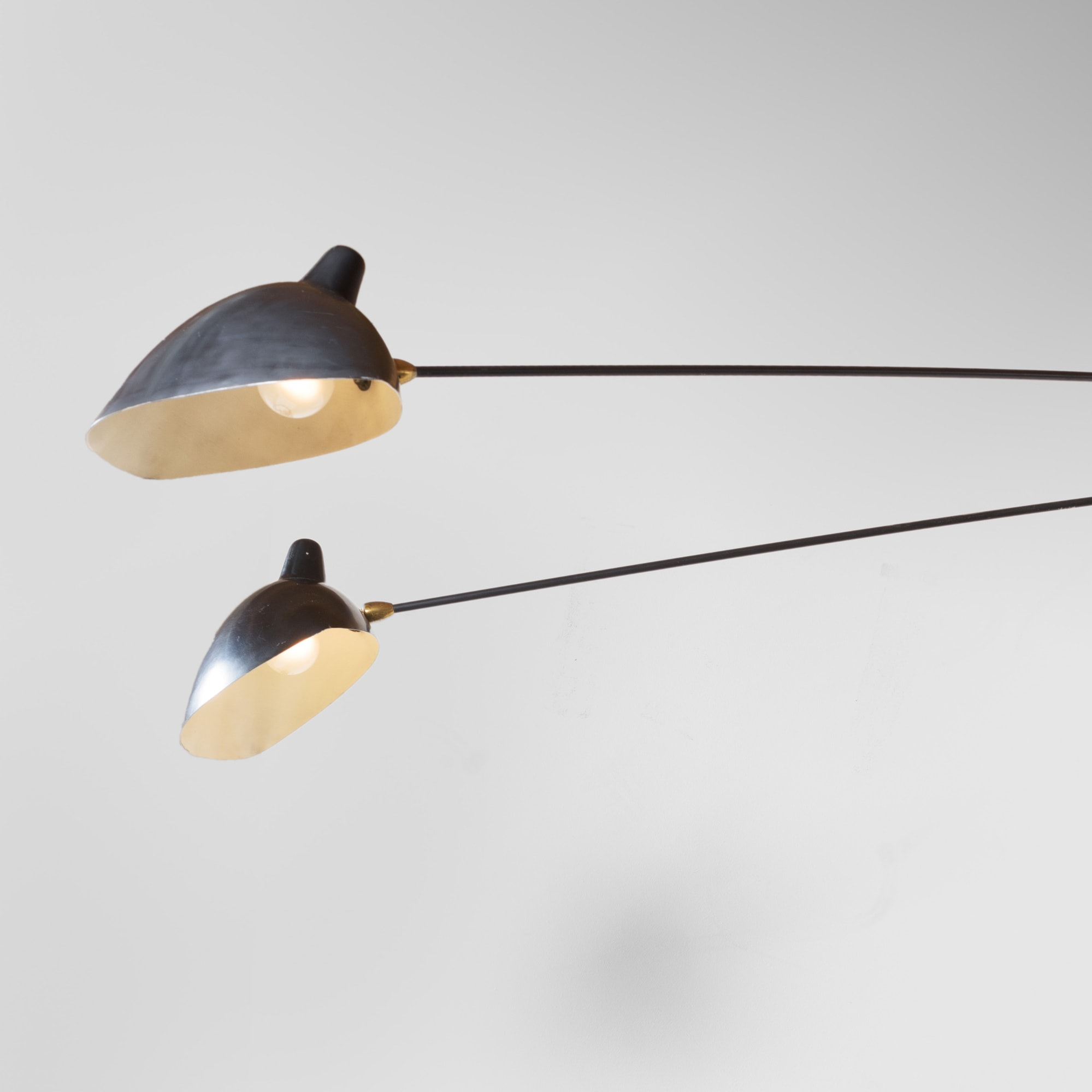 Rare and important wall-light with three arms bent, vue 02