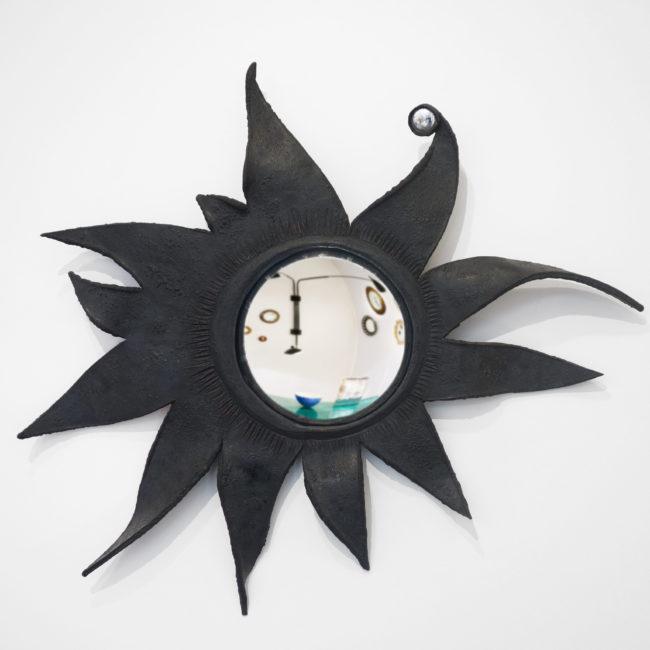 Rare miroir « Folie » ou « Le Soleil a rendez-vous avec la lune »