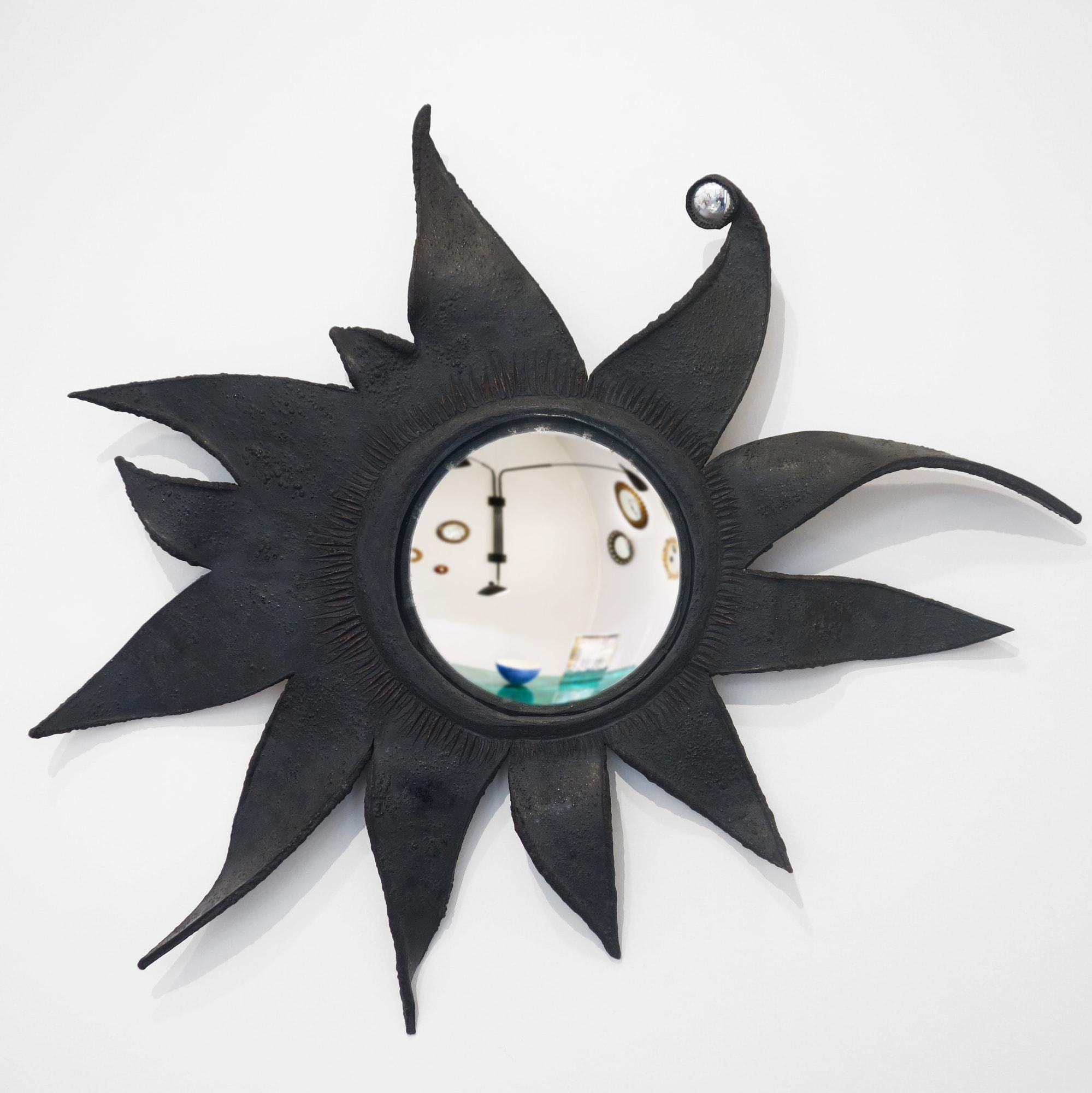 Rare miroir « Folie » ou « Le Soleil a rendez-vous avec la lune », vue 01