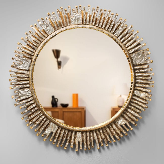 "Rare large ""Solaire"" mirror"