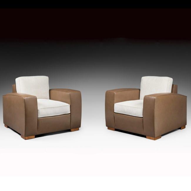 Rare paire de fauteuils