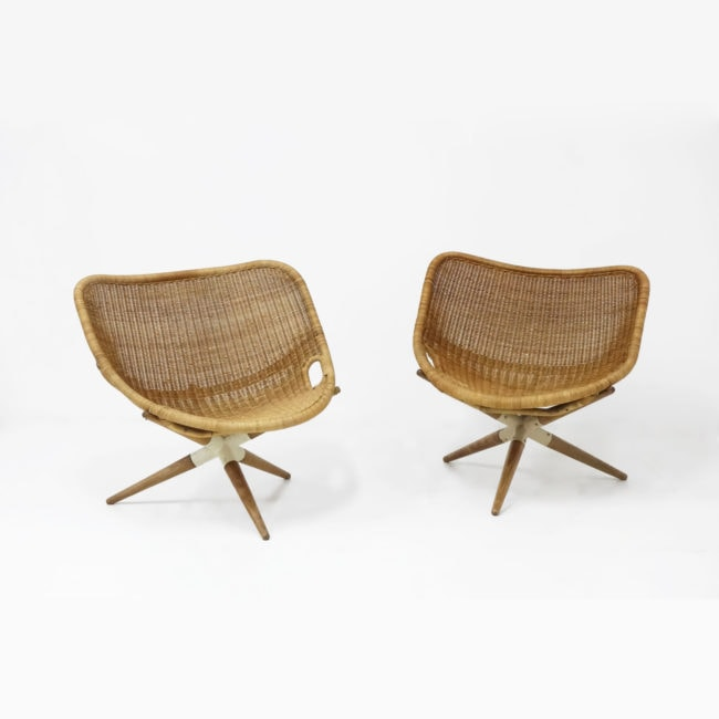Joseph-André Motte, Pair of 'Chistera' armchairs