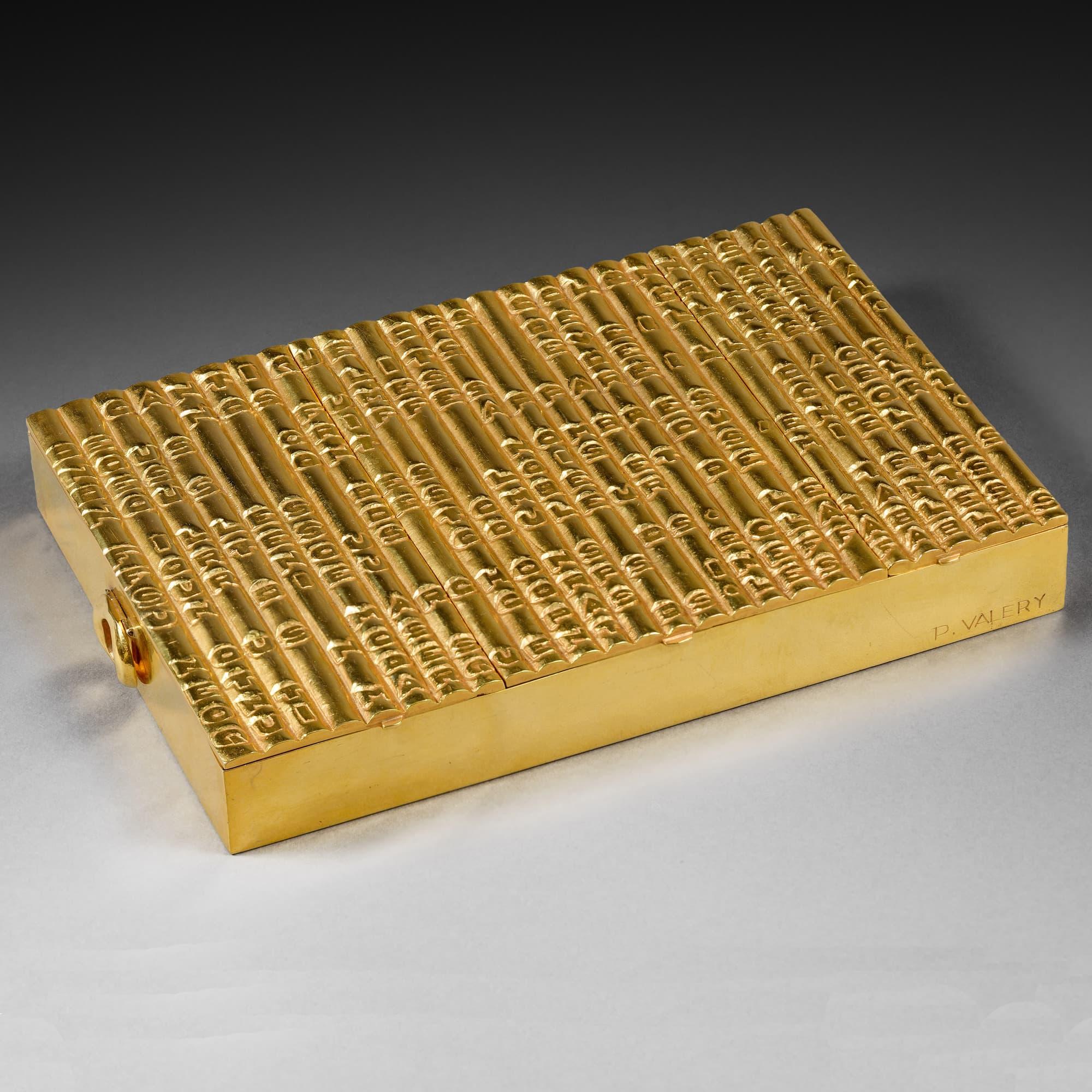 Rare et importante boite « Cantique des colonnes », vue 01