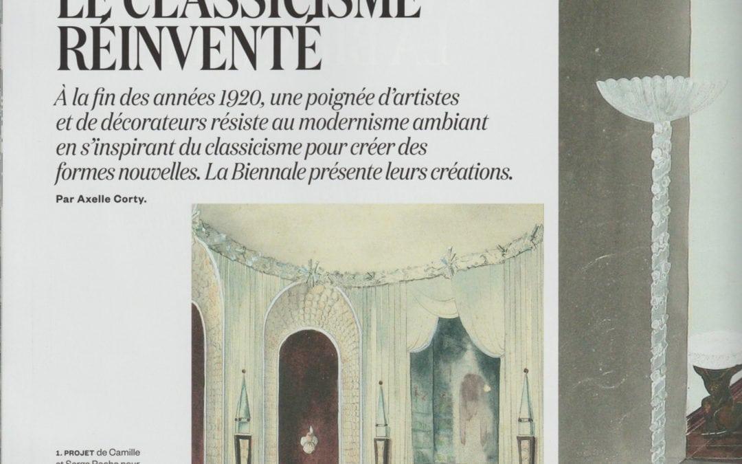 AD, août/septembre 2016 – «Le Classicisme réinventé» – Serge Roche