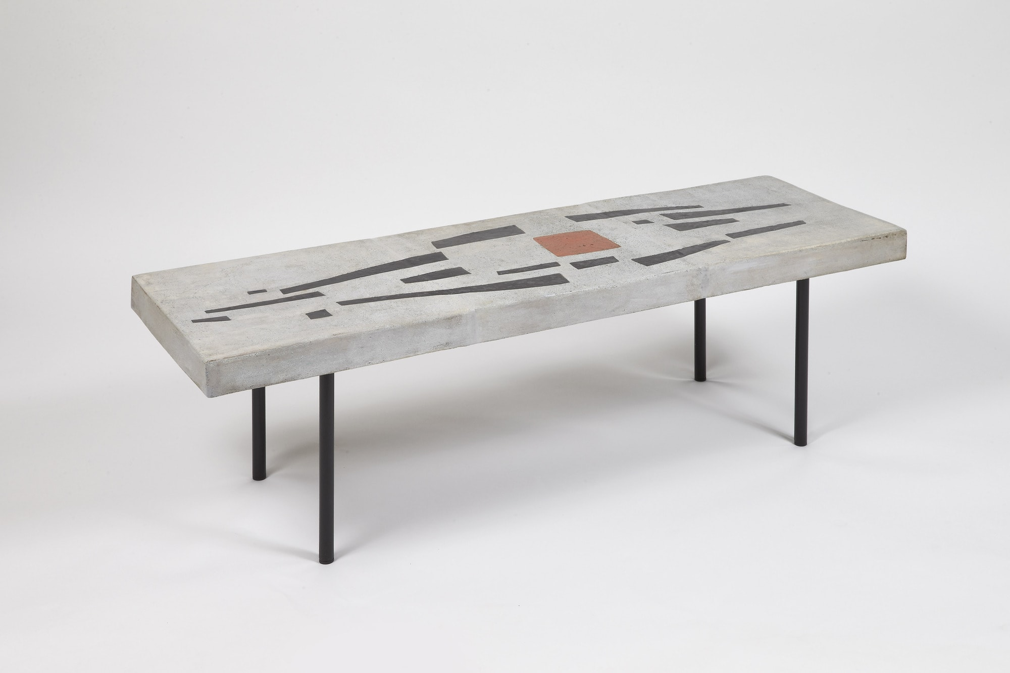 Rectangular coffee table, vue 01