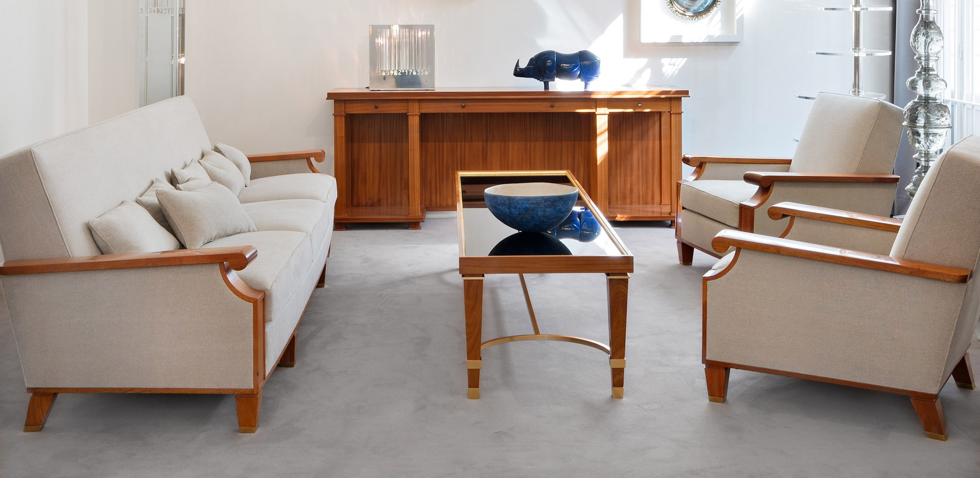 Exceptional coffee table created for the Palais des Consuls in Rouen, vue 04