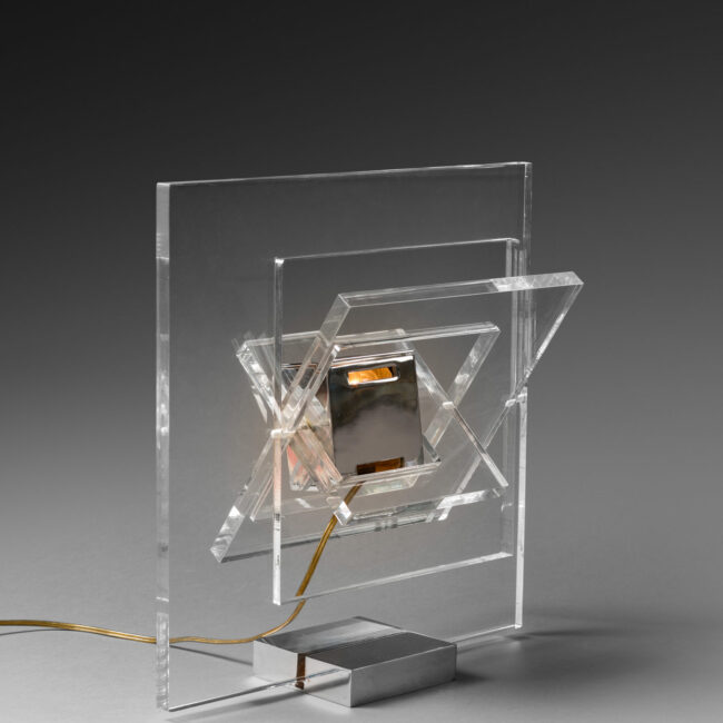 "Yonel Lebovici, ""Satellite carrée"" lamp"