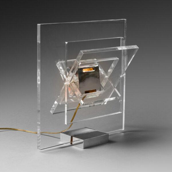 "Yonel Lebovici, Lampe carrée ""Satellite"""