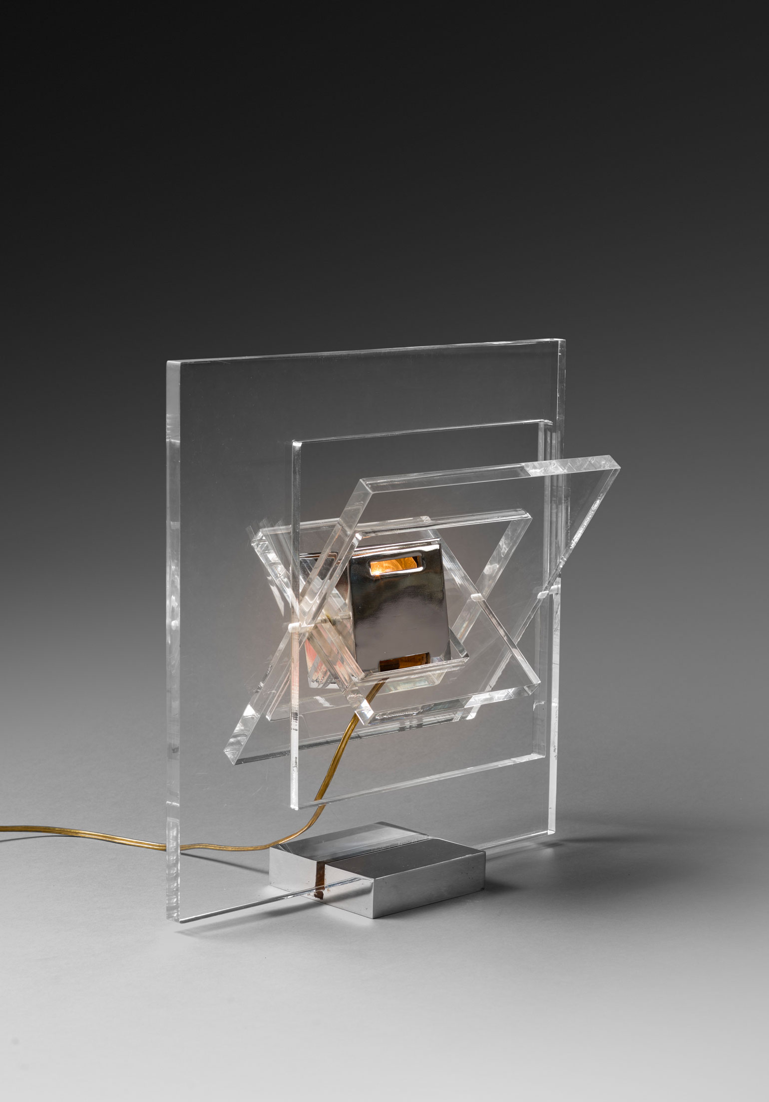 """Yonel Lebovici, """"Satellite carrée"""" lamp, vue 01"""