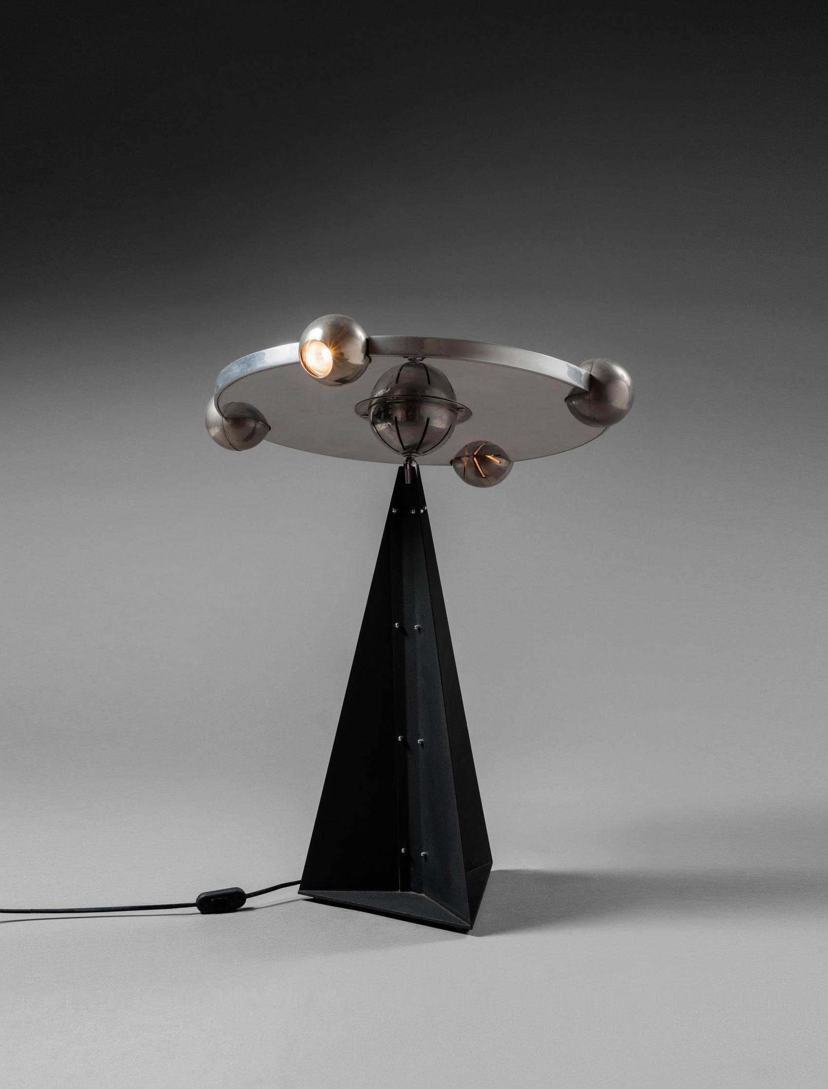 """Yonel Lebovici, """"Soucoupe petit modèle"""" lamp, vue 01"""