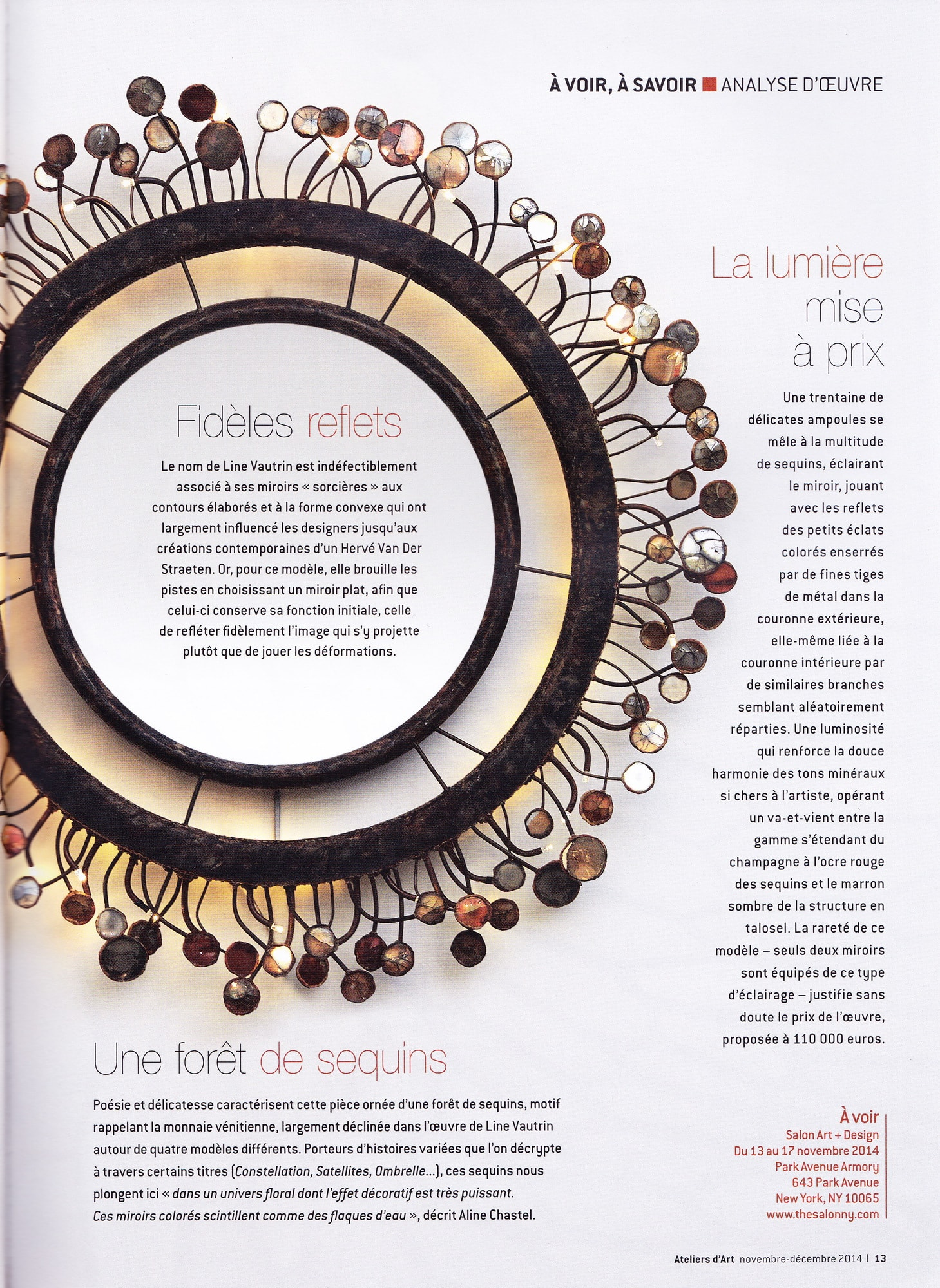 Ateliers d 39 art november december 2014 le miroir for Miroir jouve