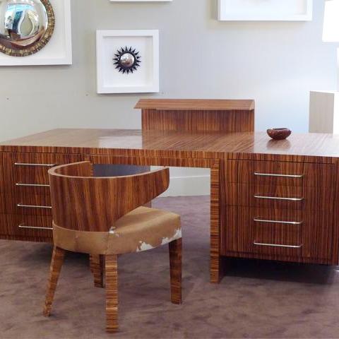 Bureau «Zebrano» et son fauteuil
