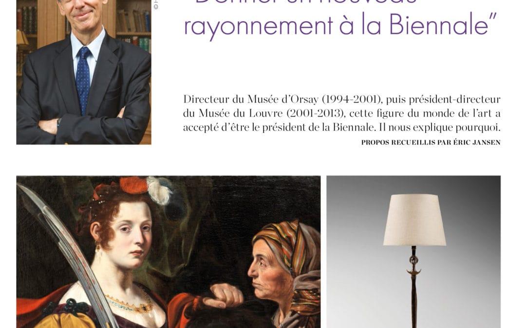 L'éventail, Septembre 2016 – «Henri Loyrette» interview