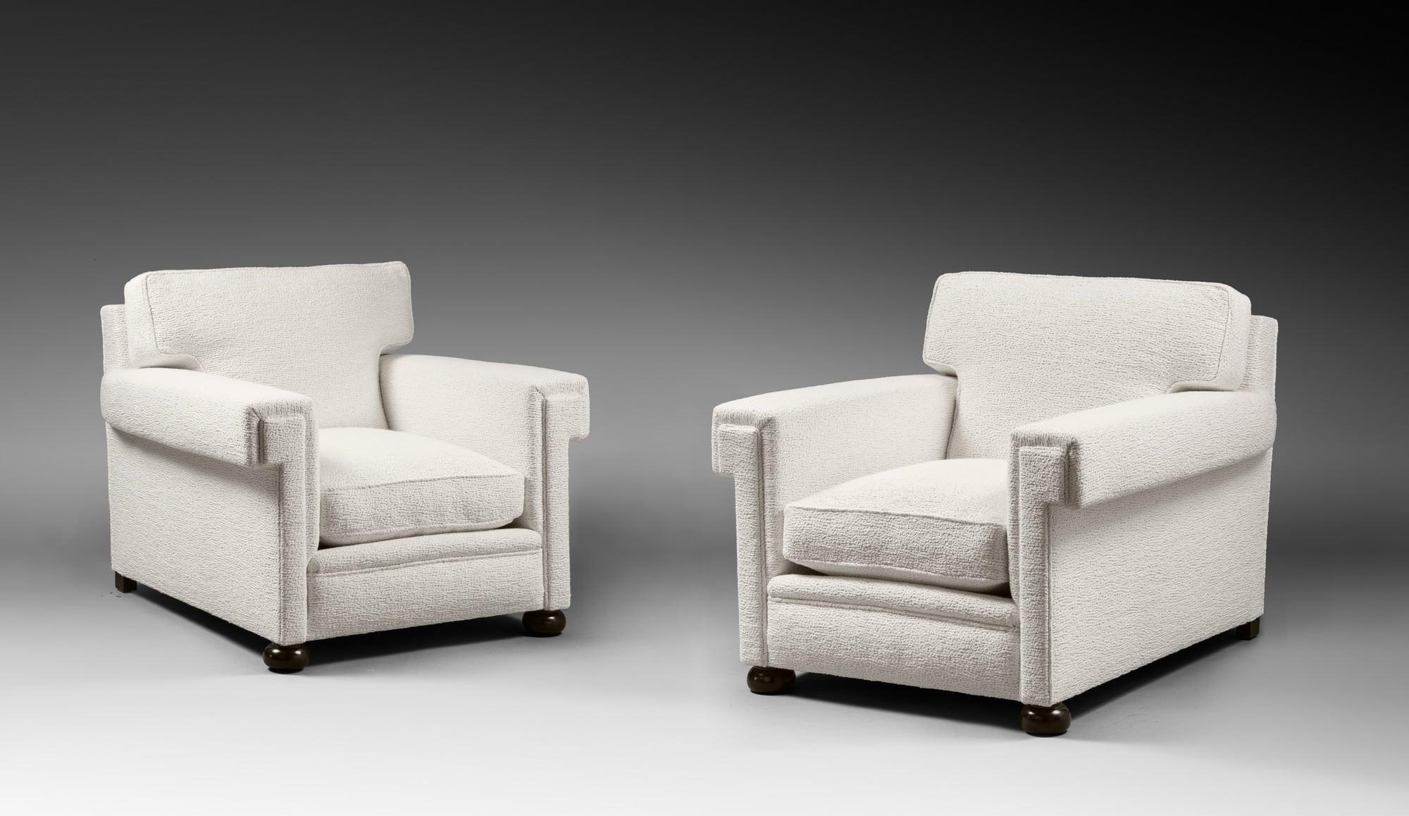 Rare paire de fauteuils de salon, vue 01