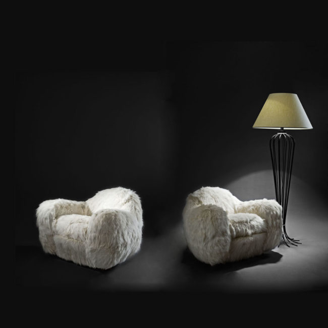 "Pair of ""Boule"" armchairs"