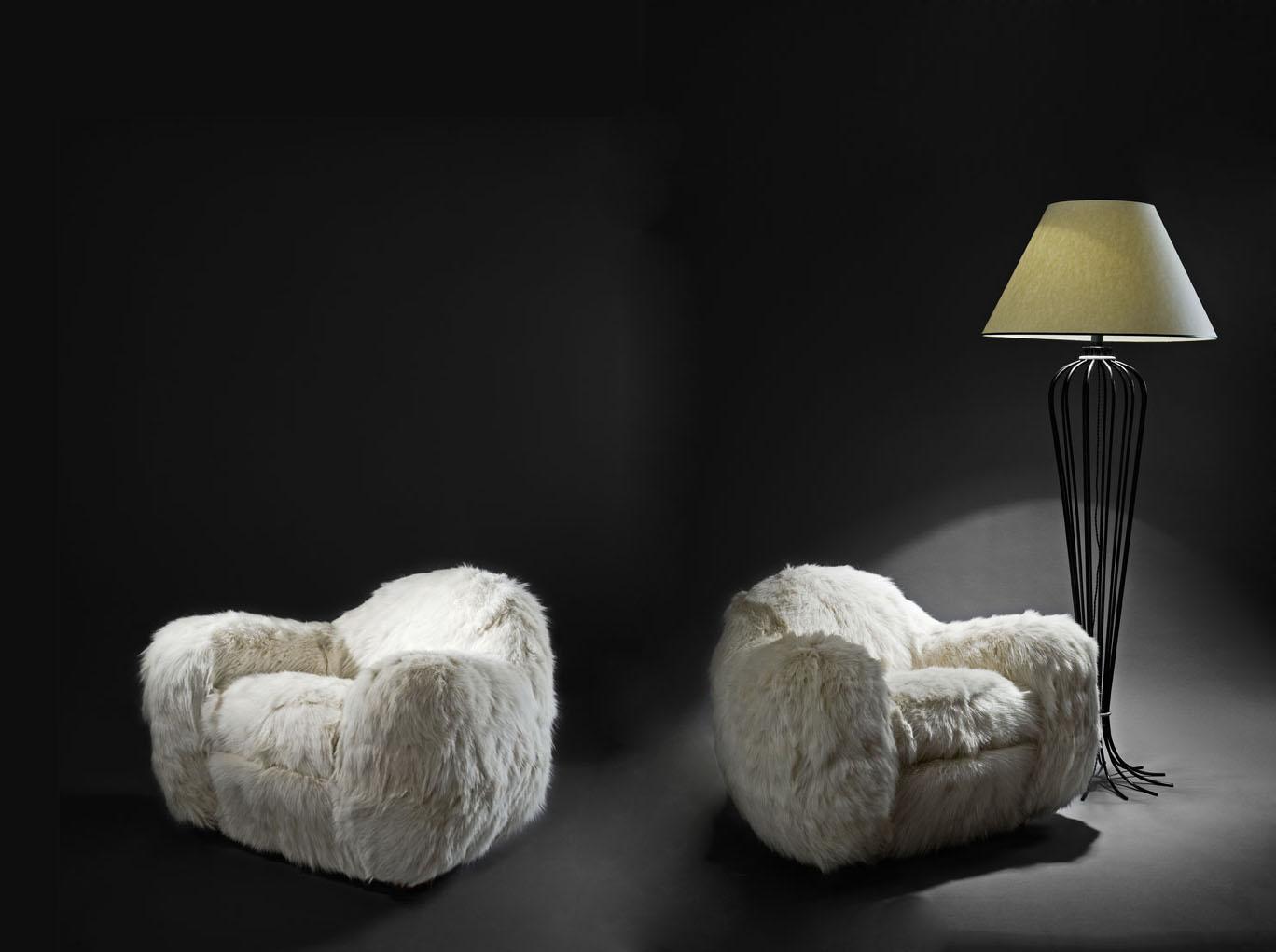 """Paire de fauteuils """"Boule"""", vue 01"""