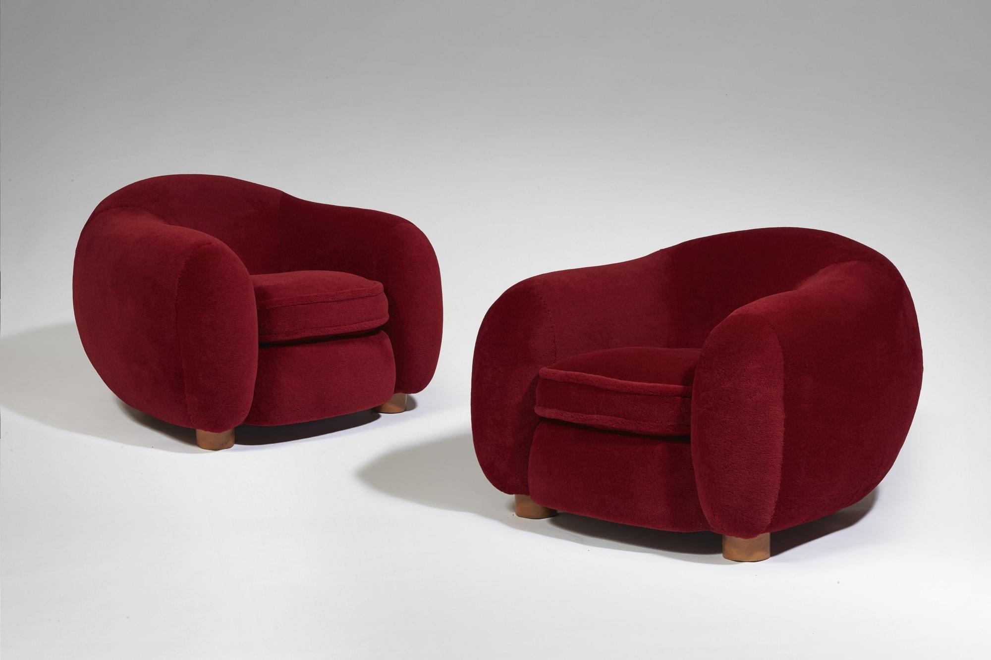 """Paire de fauteuils """"Ours Polaire"""", vue 01"""
