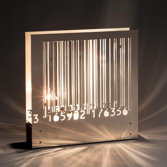 Lampe «Code à barre»