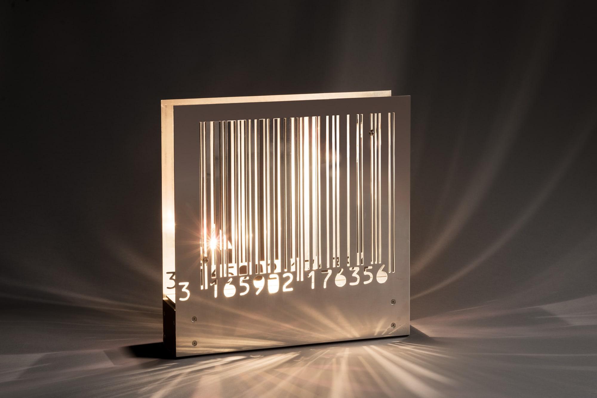 Lampe «Code à barre», vue 01