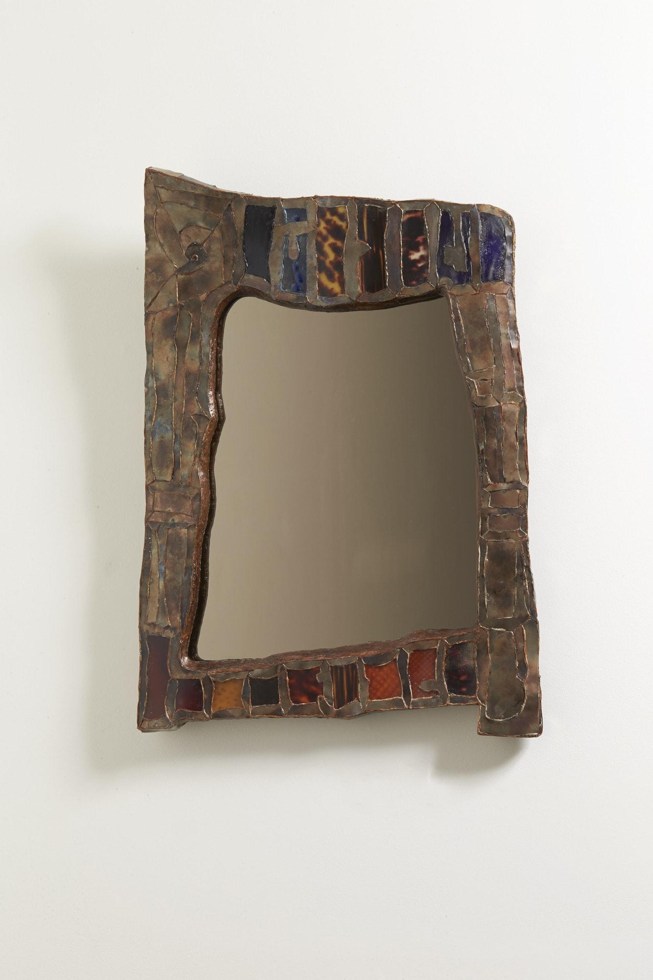 """Rare miroir """"Asymétrique"""", vue 01"""
