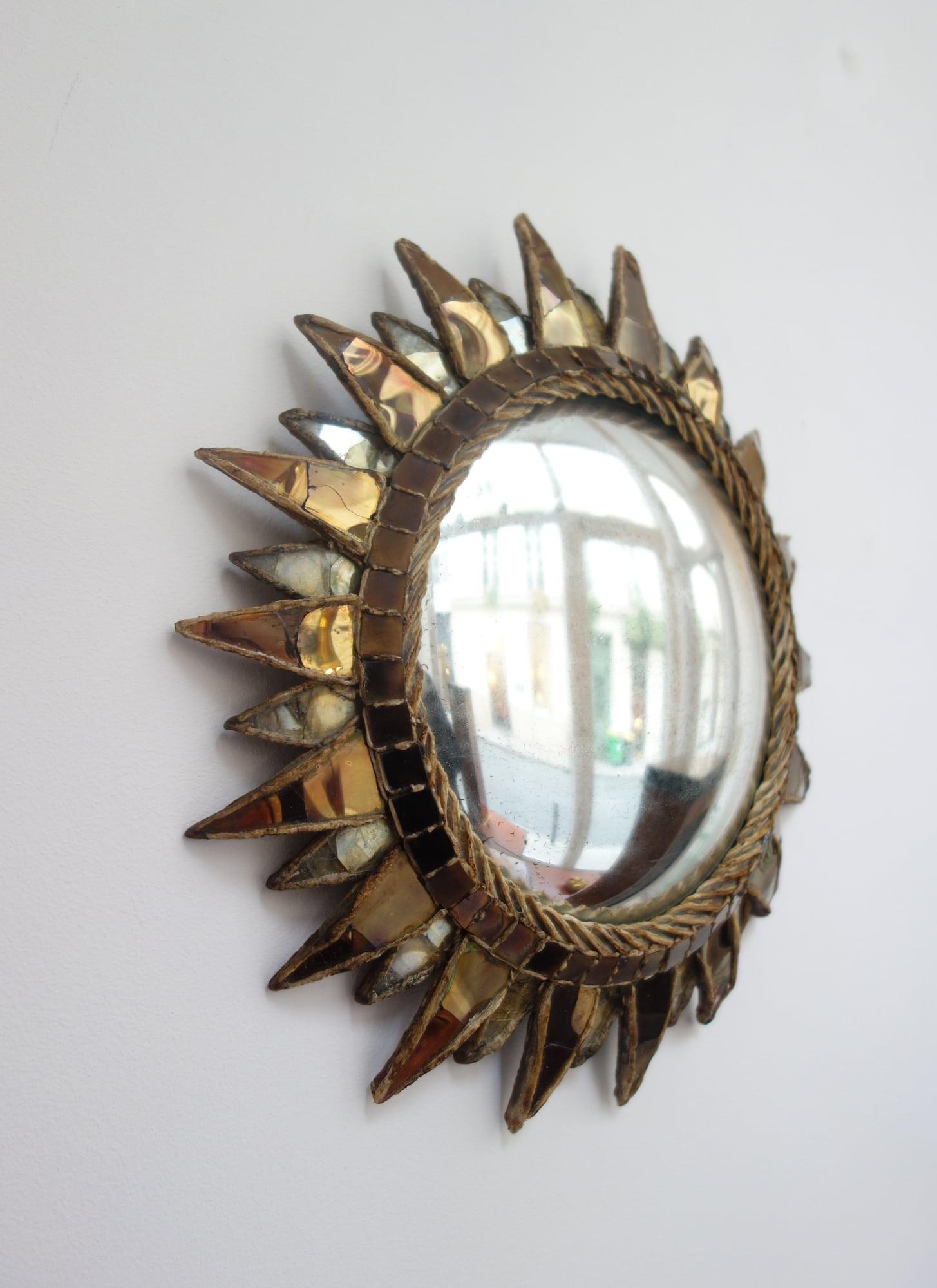 Line Vautrin, Miroir « Soleil à pointes n°2 », vue 02