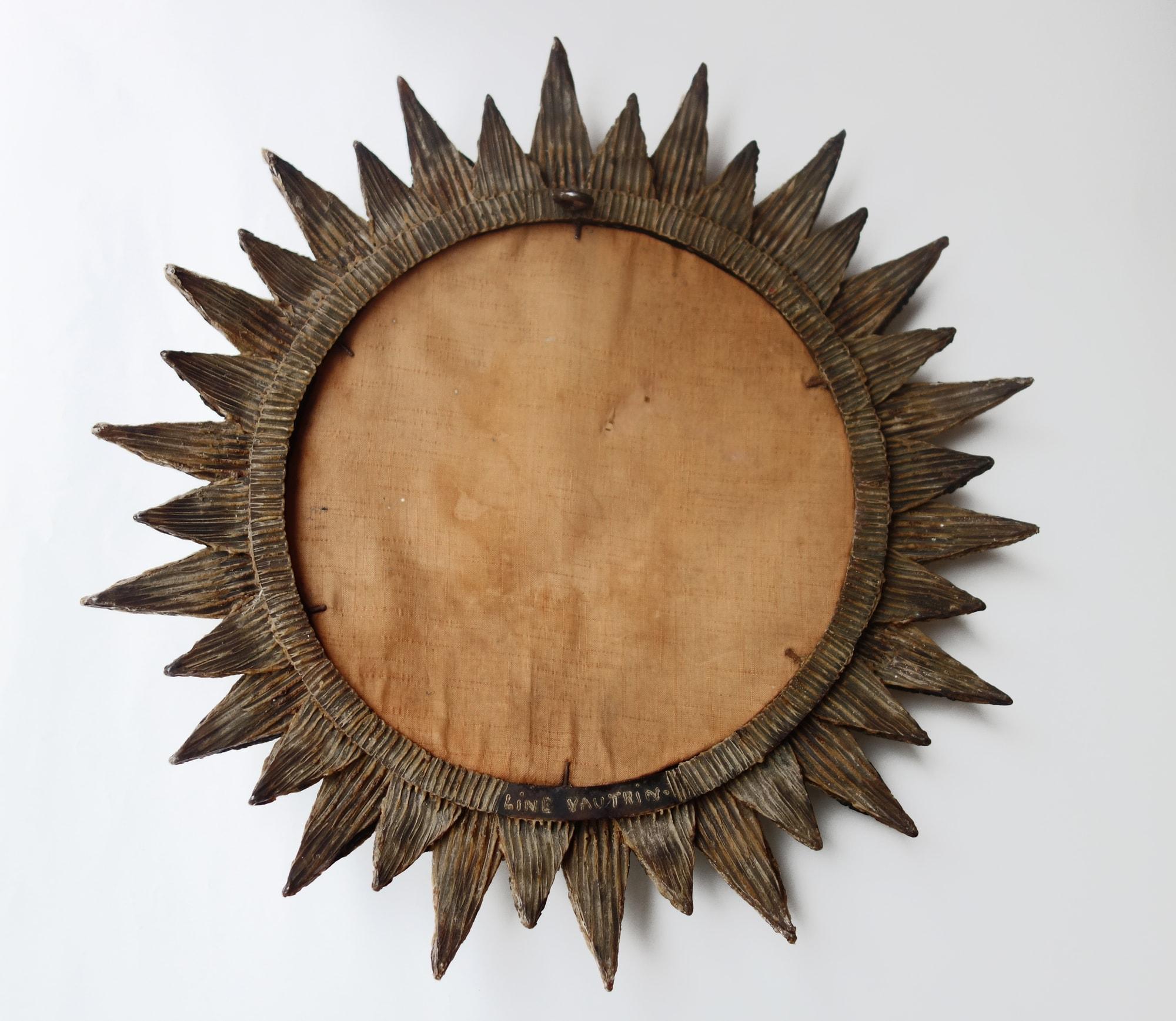 Line Vautrin, Miroir « Soleil à pointes n°2 », vue 05