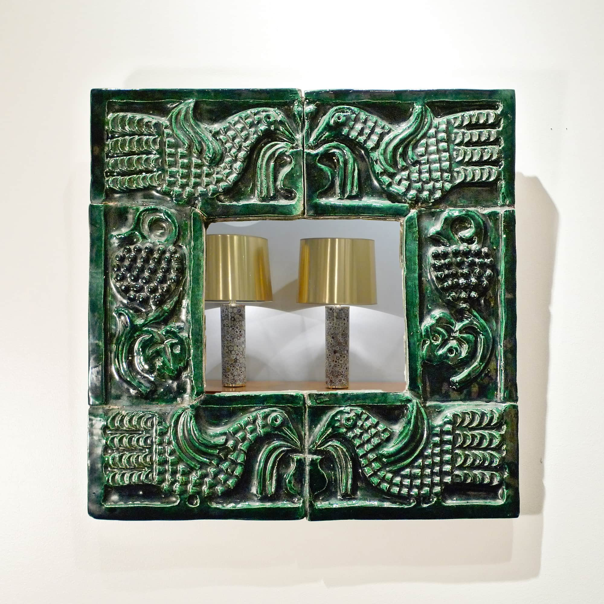 Georges jouve ceramic mirror galerie chastel mar chal for Miroir jouve