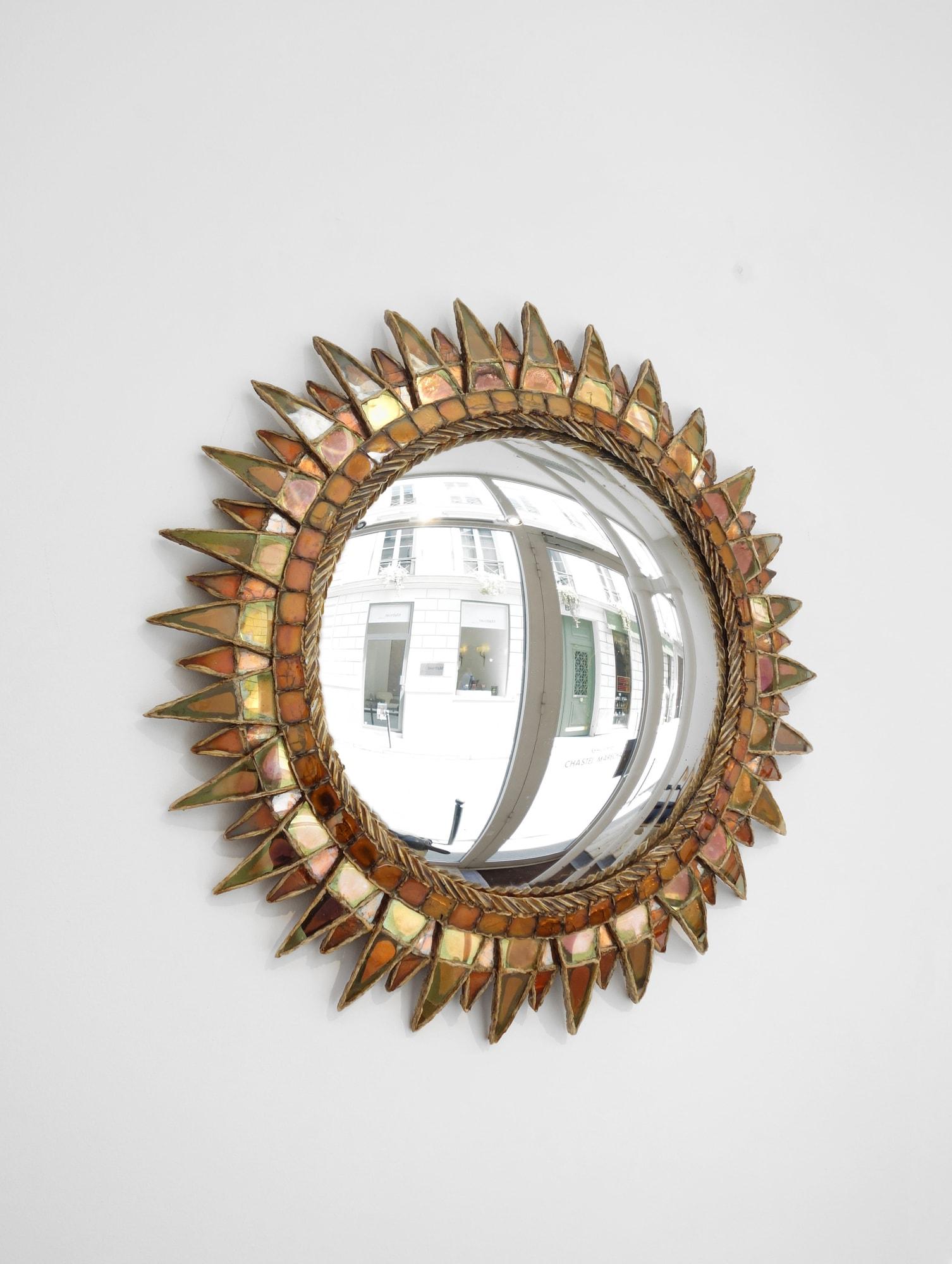 """Line Vautrin, Miroir """"Soleil à pointes n°3"""", vue 02"""