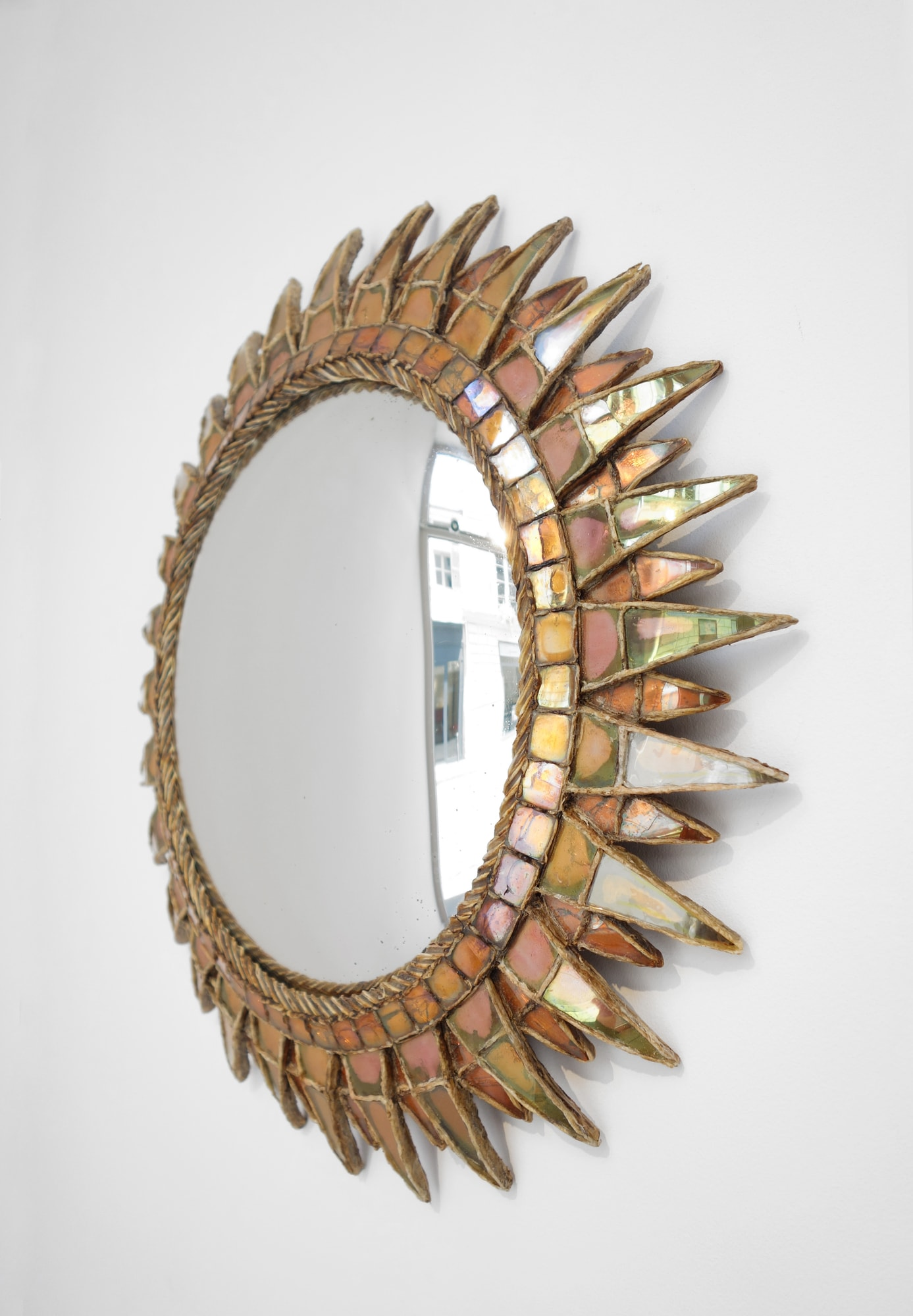 """Line Vautrin, Miroir """"Soleil à pointes n°3"""", vue 03"""