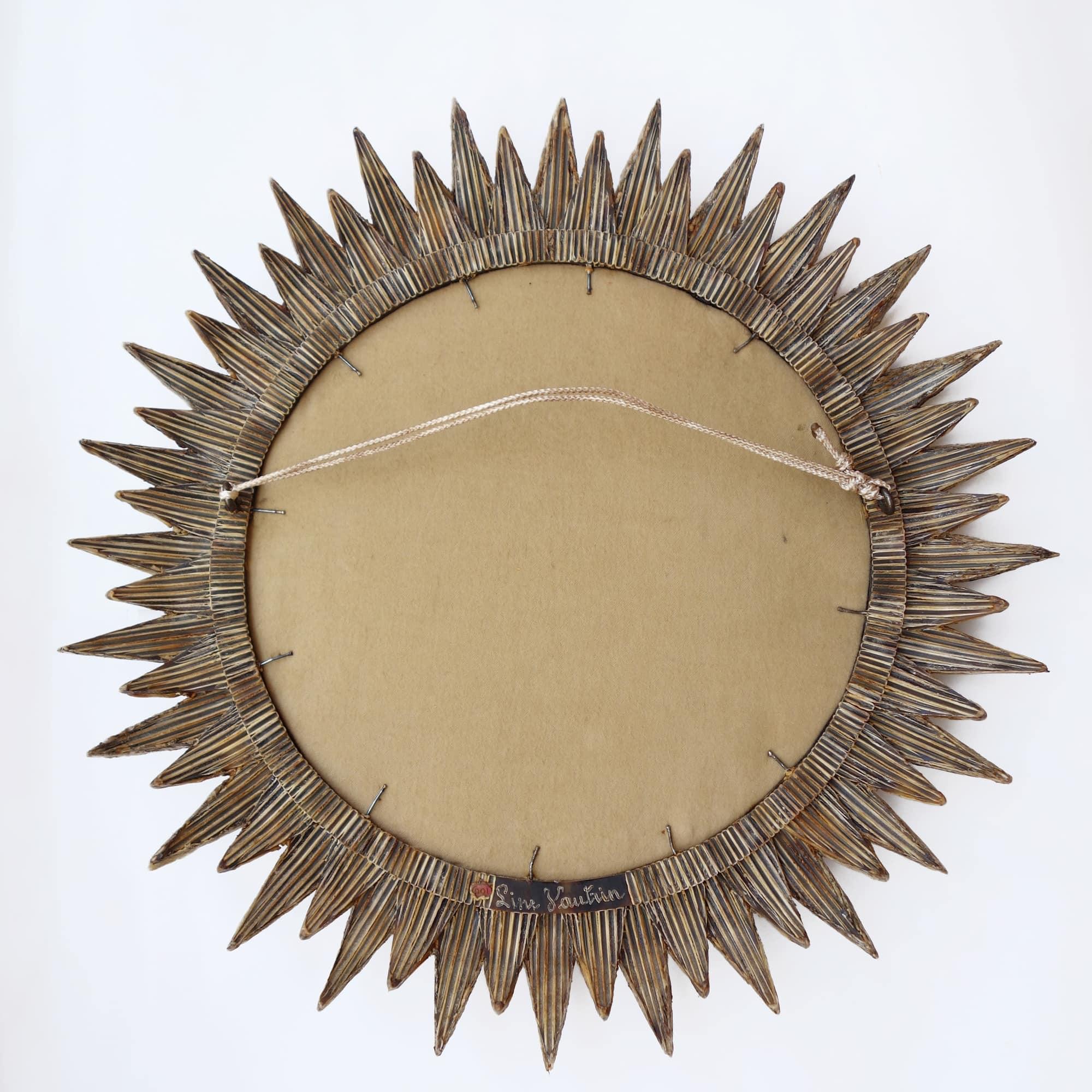 """Line Vautrin, Miroir """"Soleil à pointes n°3"""", vue 05"""
