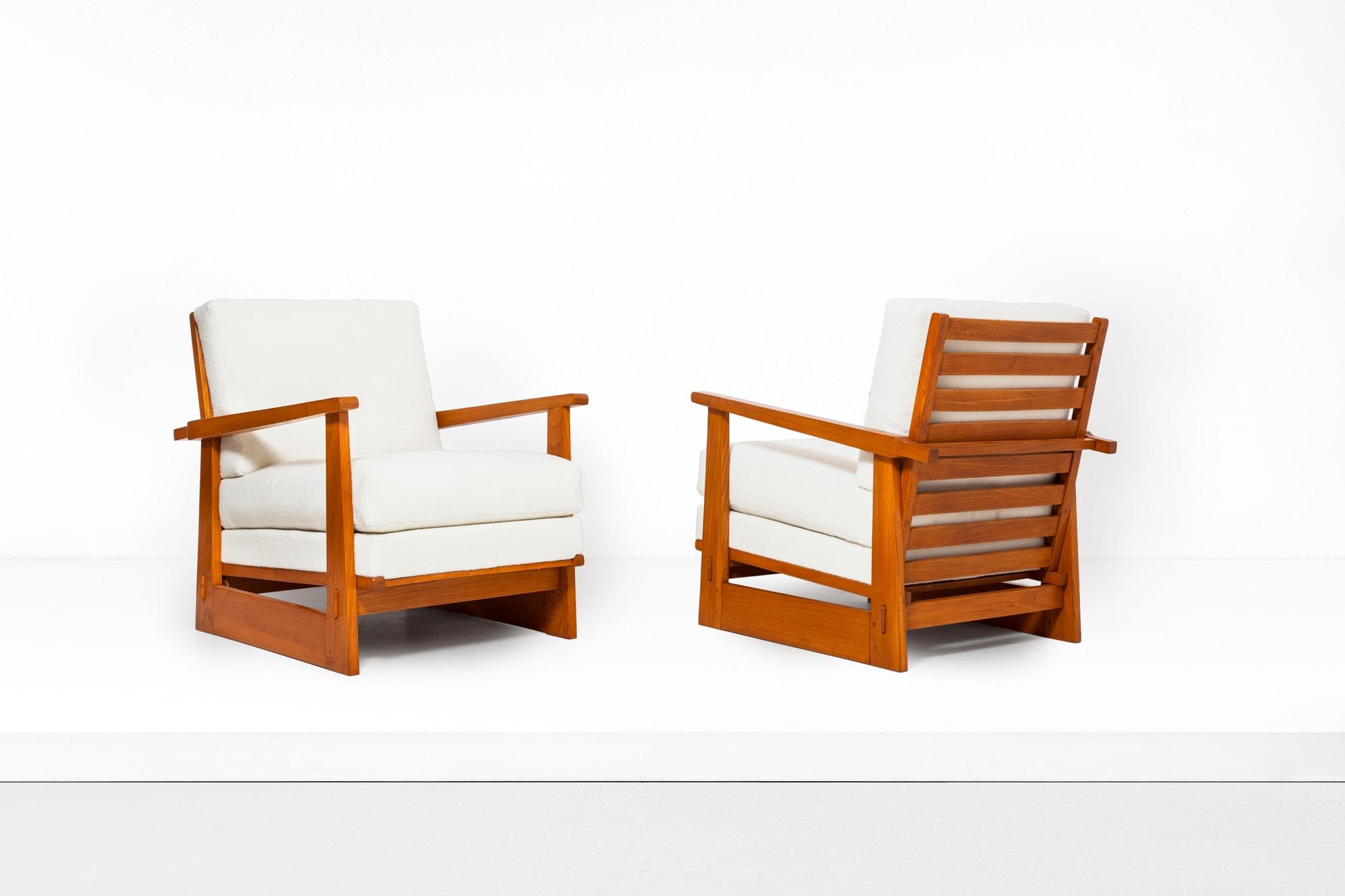 Maxime Old, Paire de fauteuils modernistes, vue 01