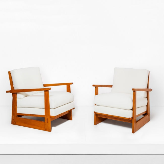 Maxime Old, Pair of modernist armchairs